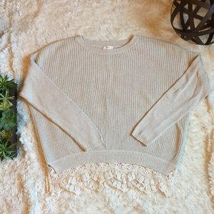 Sweaters - Urban Outfitters Lace Detailed Sweater